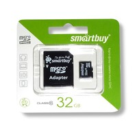 Карта памяти MicroSD HC 32 Gb ( Class 10 ) с адаптером