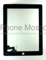 Сенсор iPad2 без кнопки Home TW (black)